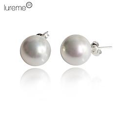 preiswerte Ohrringe-Damen Ohrstecker - Perle, Sterling Silber, Künstliche Perle Weiß / Schwarz / Rosa Für Alltag / Hülle / Rosa Perle / Schwarze Perle