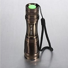 LS021 LED Flashlights / Torch LED 1800 lm 5 Mode Cree XM-L T6 Zoomable Adjustable Focus Impact Resistant Nonslip grip Rechargeable