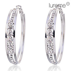 tanie Kolczyki koła-Damskie Kolczyki koła biżuteria kostiumowa Kryształ Imitacja diamentu Stop Circle Shape Biżuteria Na Impreza Codzienny