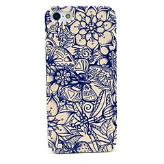 Butterfly and Flower Pattern Hard Cover Case for iPhone 5/5S