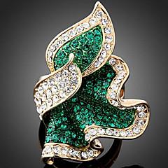 preiswerte Ringe-Damen Statement-Ring - Roségold, Diamantimitate, Aleación Luxus, Modisch Eine Größe Smaragd / Fuchsia / Hellblau Für Party