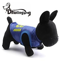 お買い得  犬用ウェア&アクセサリー-犬用品 / 猫用品 - 冬 テリレン - Tシャツ - ブルー - XS / S / M / L