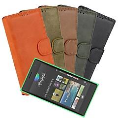 Voor Nokia hoesje Portemonnee / Kaarthouder / met standaard / Mat hoesje Volledige behuizing hoesje Effen kleur Hard PU-leer Nokia