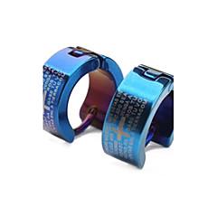 olcso Karika fülbevalók-Francia kapcsos fülbevalók Személyre szabott jelmez ékszerek Divat Klasszikus Titanium Acél Cross Shape Ékszerek Kompatibilitás