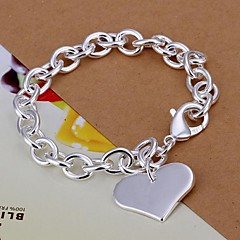 cheap Bracelets-Women's Silver Plated Charm Bracelet - Love LOVE Silver Bracelet For Christmas Gifts Wedding Party