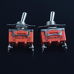 cheap BUY MORE SAVE MORE-Toggle Switch (Feet Second Gear) 15A 250VAC(2Pcs)