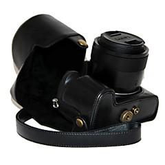 ieftine -aparat foto din piele PU caz dengpin acoperiș protector geantă cu curea de umar pentru Lumix Panasonic DMC-fz1000 fz1000