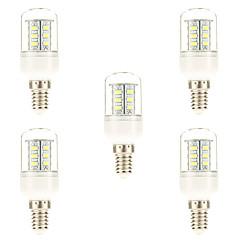 preiswerte LED-Birnen-5 Stück 3W 450 lm E14 LED Mais-Birnen 24 Leds SMD 5730 Natürliches Weiß Wechselstrom 220-240V
