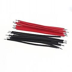 sârmă DIY 5cm roșu + negru (40pcs)