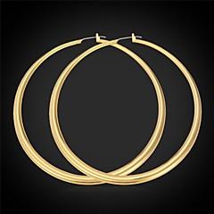 preiswerte Ohrringe-Damen Kreolen - Platiert, vergoldet Erklärung, Simple Style Silber / Golden Für Hochzeit Party Geschenk