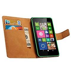 billige Etuier til Nokia-For Nokia etui Pung Kortholder Med stativ Etui Heldækkende Etui Helfarve Hårdt Kunstlæder for NokiaNokia Lumia 950 Nokia Lumia 930 Nokia