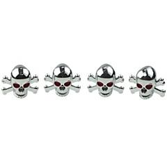 abordables Piezas para el Coche-Válvulas de cobre cráneo neumático de coche de lujo tapa decoración (4 piezas por paquete)