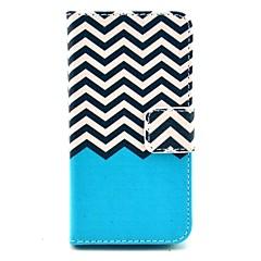 coco fun® zwart witte golf patroon pu lederen tas met screen protector en usb-kabel en stylus voor iPhone 4 / 4s