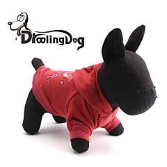 お買い得  犬用ウェア&アクセサリー-猫用品 / 犬用品 パーカー レッド / ピンク 犬用ウェア 冬 文字&番号
