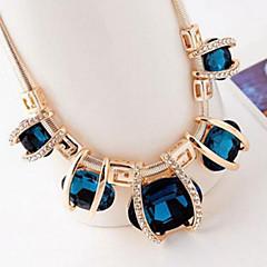 preiswerte Halsketten-Damen Kristall Anhängerketten Statement Ketten - Krystall, Diamantimitate damas, Europäisch, Fest / Feiertage Blau, Farbbildschirm, Dunkelgrün Modische Halsketten Schmuck Für Party, Besondere