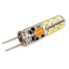 preiswerte LED-Birnen-110lm G4 LED Mais-Birnen T 24 LED-Perlen SMD 3014 Kühles Weiß / Blau 12V