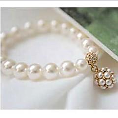 お買い得  ブレスレット-女性 ストランドブレスレット 人造真珠 合金 ジュエリー 用途 日常 カジュアル