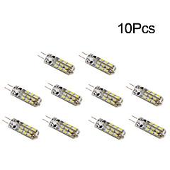 preiswerte LED-Birnen-10 Stück 1W 300 lm G4 LED Mais-Birnen T 24 Leds SMD 3014 Warmes Weiß Kühles Weiß DC 12V