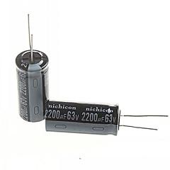 お買い得  コンデンサー-電解コンデンサ2200uf 63V(2個)