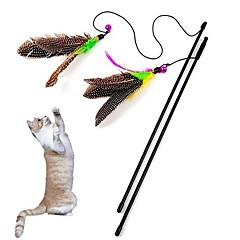 お買い得  猫用おもちゃ-猫用おもちゃ ペット用おもちゃ ティーザー 猫じゃらし ベル 繊維 ペット用