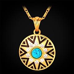 Női Rövid nyakláncok Nyaklánc medálok Szintetikus drágakövek Strassz Arannyal bevont Türkiz Ötvözet Divat Ékszerek Kompatibilitás Esküvő