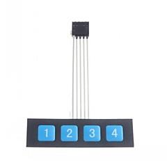 abordables Interruptores-1x4 tecla del teclado teclado del panel de control del interruptor de membrana matriz delgada