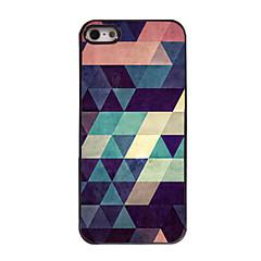 Недорогие Кейсы для iPhone 5-Кейс для Назначение iPhone 5 / Apple iPhone 8 / iPhone 8 Plus / Кейс для iPhone 5 С узором Кейс на заднюю панель Геометрический рисунок Твердый ПК для iPhone 8 Pluss / iPhone 8 / iPhone SE / 5s