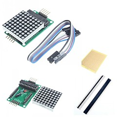 MAX7219 Red Dot Matrix Module and Accessories for Arduino