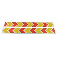 preiswerte Auto Aufkleber-Auto Auto Muster Sicherheit reflektierende Stickers- (2 Stück) gelb& rot