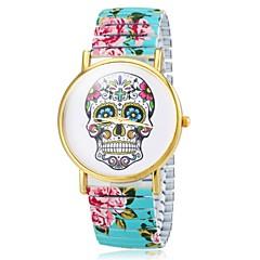 お買い得  レディース腕時計-女性用 ブレスレットウォッチ カジュアルウォッチ 合金 バンド 花型 / スカル / ファッション ブラック / 白 / ブルー