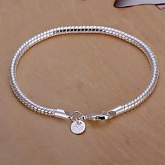 Męskie Bransoletki i łańcuszki na rękę Posrebrzany Unikalny Modny Wąż Biżuteria Biżuteria 1szt