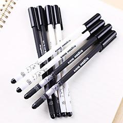 abordables Liquidación-Bolígrafo Bolígrafo Plumas de gel Bolígrafo, El plastico Negro colores de tinta For Suministros de la escuela Material de oficina Paquete