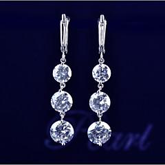Kolczyki wiszące Cyrkon Kamień szlachetny White Biżuteria Na Ślub Impreza Codzienny Casual 2pcs