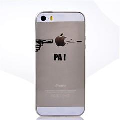 お買い得  iPhone 5S/SE ケース-ケース 用途 iPhone 5 / Apple / iPhone X iPhone X / iPhone 8 Plus / iPhone 5ケース クリア / パターン バックカバー Appleロゴアイデアデザイン ソフト TPU のために iPhone X / iPhone 8 Plus / iPhone 8