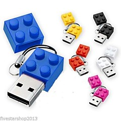 halpa USB-muistitikut-2GB USB muistitikku usb-levy USB 2.0 Muovi Cartoon Kompakti koko brick