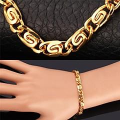 preiswerte Armbänder-Herrn / Damen Ketten- & Glieder-Armbänder / Vintage Armbänder - vergoldet Armbänder Für Weihnachts Geschenke / Hochzeit / Party