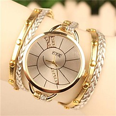 cheap Watch Deals-Women's Quartz Bracelet Watch Hot Sale Leather Band Bohemian Dress Watch Fashion White Blue Brown Green Gold Rose