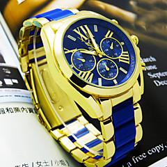 preiswerte Tolle Angebote auf Uhren-Herrn Armbanduhr Quartz Legierung Band Weiß Blau Rosa Beige