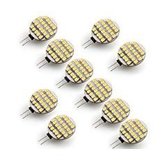 お買い得  LED 電球-10個 3W 300-400 lm G4 LED2本ピン電球 24 LEDの SMD 3528 温白色 クールホワイト AC 12V