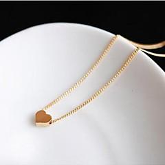 preiswerte Halsketten-Damen Anhängerketten - Herz, Liebe Simple Style Golden Modische Halsketten Schmuck Für Hochzeit, Party, Geschenk