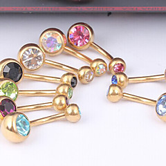 abordables Piercings para el ombligo-Mujer Navel & Bell Button Rings Cristal / Acero inoxidable Joyas,1pc