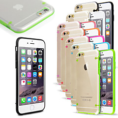 For iPhone 6 etui / iPhone 6 Plus etui Blinkende LED-lys / Ultratyndt / Transparent Etui Bagcover Etui Helfarve Hårdt PCiPhone 7 Plus /