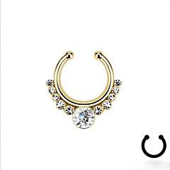 olcso Testékszerek-Női Testékszer Orrgyűrű / orrvérzés / orrpúder orr Piercing Strassz Hamis gyémánt Ötvözet Ezüst Aranyozott Mások Egyedi Divat Jelmez