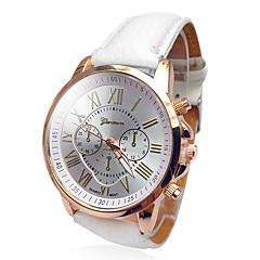 preiswerte Tolle Angebote auf Uhren-Geneva Damen Armbanduhr Armbanduhren für den Alltag PU Band Modisch / Elegant Weiß / Blau / Rot / Ein Jahr / SSUO 377
