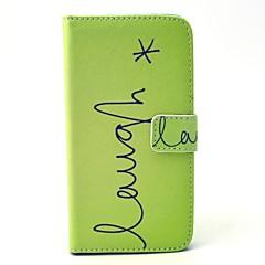 For Samsung Galaxy etui Pung Kortholder Med stativ Etui Heldækkende Etui Andet Hårdt Kunstlæder for SamsungS6 edge S6 S5 Mini S5 S4 Mini