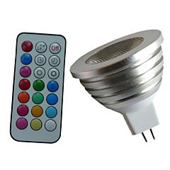 cheap LED Bulbs-4W 350-450 lm GU5.3(MR16) LED Spotlight MR16 1PCS leds High Power LED Dimmable Decorative Remote-Controlled RGB AC 12V DC 12V