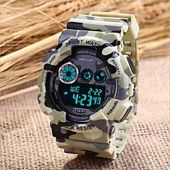 SANDA Męskie Sportowy Wojskowy Modny Zegarek na nadgarstek Kwarcowy Plastic Pasmo Szary