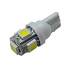 t10 decorazione luce 5 smd 5050 70-90lm bianco freddo 6000-6500k dc 12v