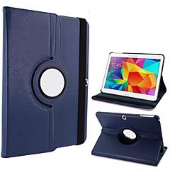 billige Galaxy Tab 4 10.1 Etuier-For Samsung Galaxy etui Med stativ Flip 360° Rotation Etui Heldækkende Etui Helfarve Kunstlæder for Samsung Tab 4 10.1