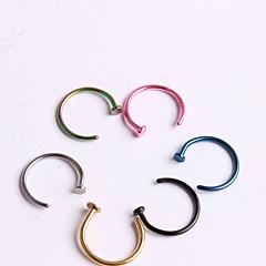 Mujer Joyería Corporal Piercings para nariz Piercing de naríz Acero inoxidable Diseño Único Moda Joyas Azul Joyas Diario Casual 1 pieza